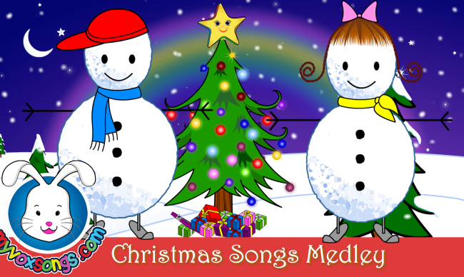 christmas songs for kids with lyrics xmas medley - Christmas Medley Lyrics