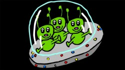 Three Little Men in a Flying Saucer