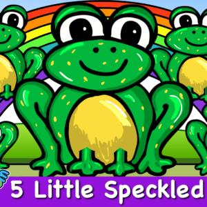 Five Little Speckled Frogs Song | Nursery Rhymes For Baby Kindergarten & PreSchool